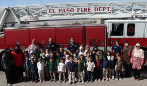 Fire Safety Week - Students meet local firefighters and learn about fire safety.