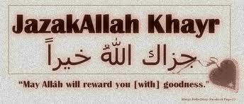 JazakAllah Khayr
