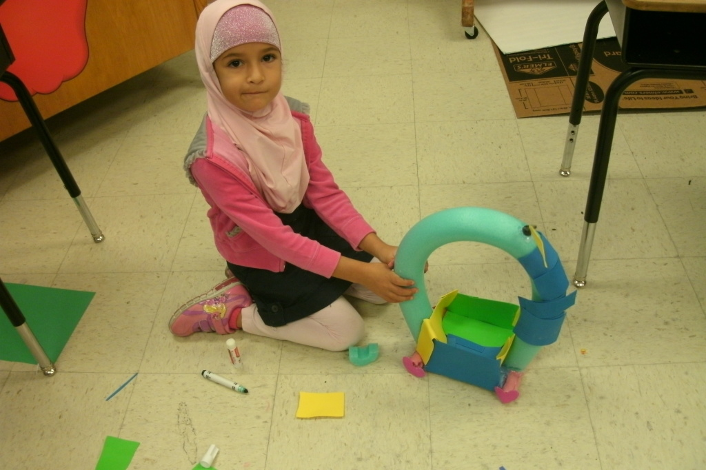 2nd graders' STEM projects were about boats made of different materials.